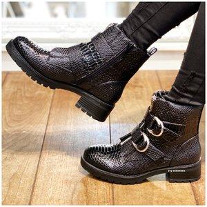 Boots TAKE DELUXE - Zwart/Croco/Caymen
