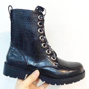 Boots JAKE - Zwart/Croco