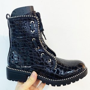 Boots TIMON - Zwart/Croco
