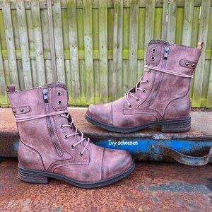 Boots GAVIN - Roze/Paars