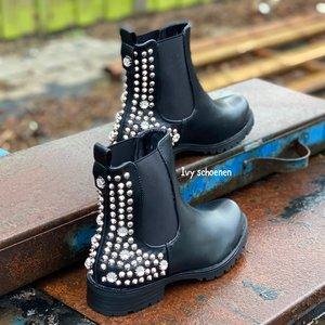Boots SHANE - Zwart/Zilver