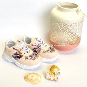 Sneaker ALANA - Roze/Slang  19 t/m 24