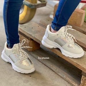 Sneaker VEGAS - Zilver 25 t/m 36