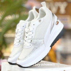 Sleehak Sneaker KWINTY - Wit