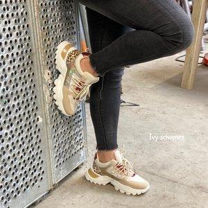 Sneaker CHAPRON - Goud/Beige