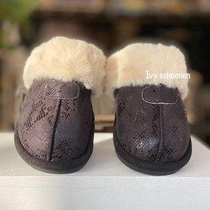 Warme sloffen KATIE DELUXE - Zwart