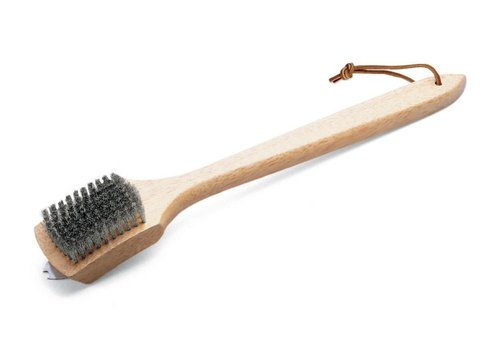 Weber GRILL BRUSH - BAMBOO HANDLE, 46 CM, STAINLESS STEEL BRISTLES