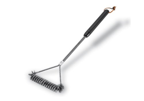 Weber GRILL BRUSH - THREE SIDED, 53 CM, STAINLESS STEEL BRISTLES