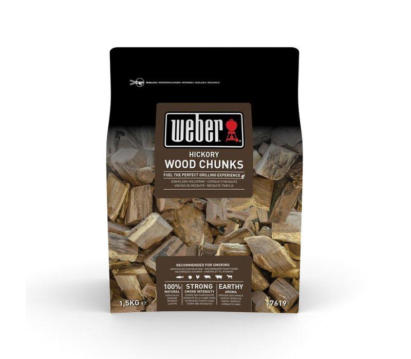HICKORY WOOD CHUNKS - 1.5KG