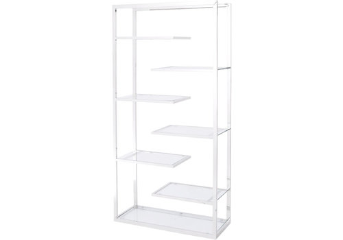 Homestore Linton Stainless Steel And Glass Display Unit
