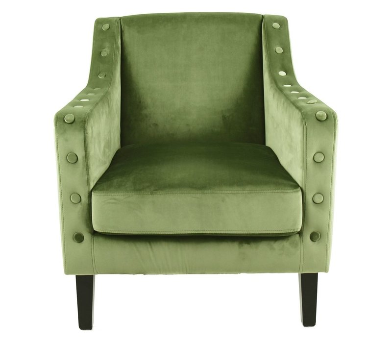 Almo Armchair in Olive Green