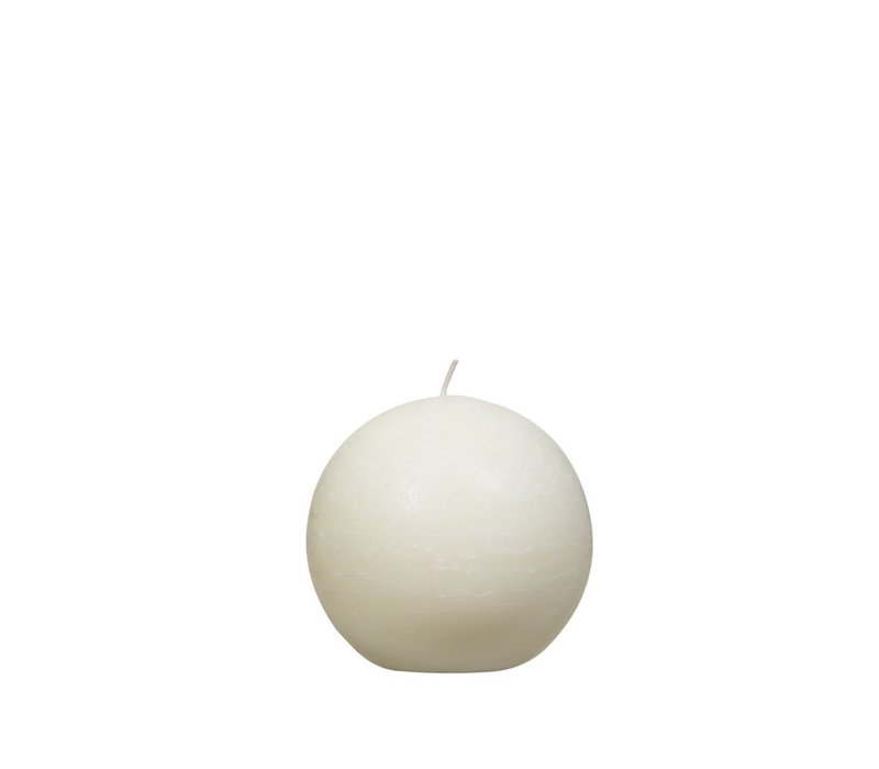 Candle ball ivory D9cm