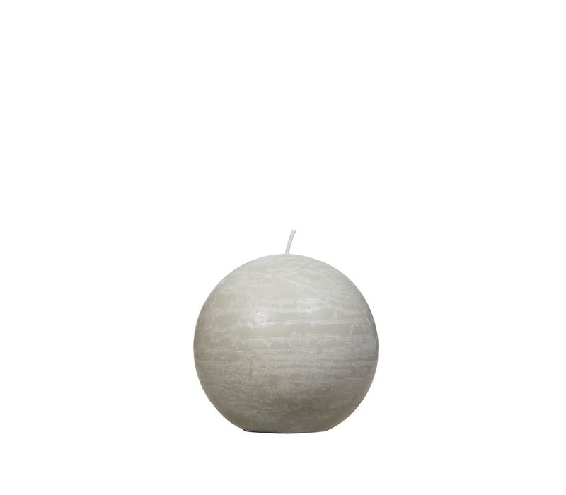 Candle Ball in Linen D9cm