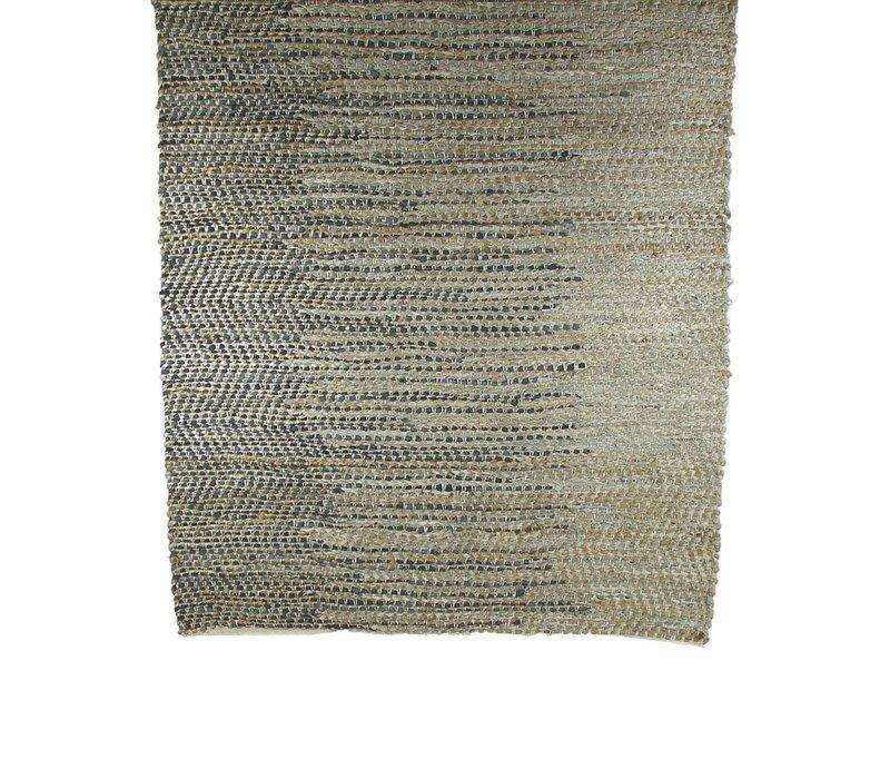 Rythmic rug in grey & natural colour