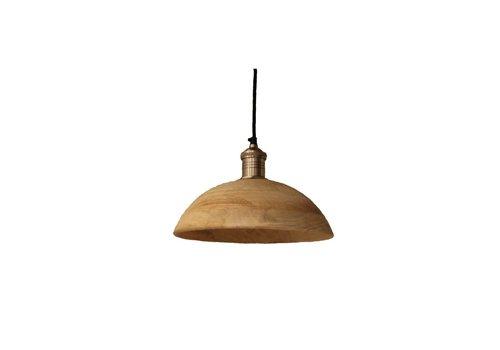 Homestore Olbia Hanging Lamp with Mango Wood & Iron - Medium