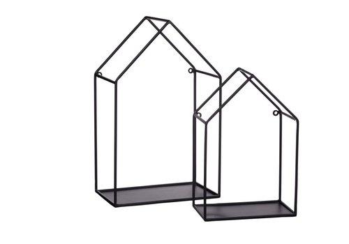 Homestore House Wall Rack  - Set of 2