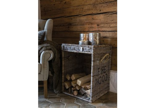 Homestore Rustic Rattan Fire Wood Basket