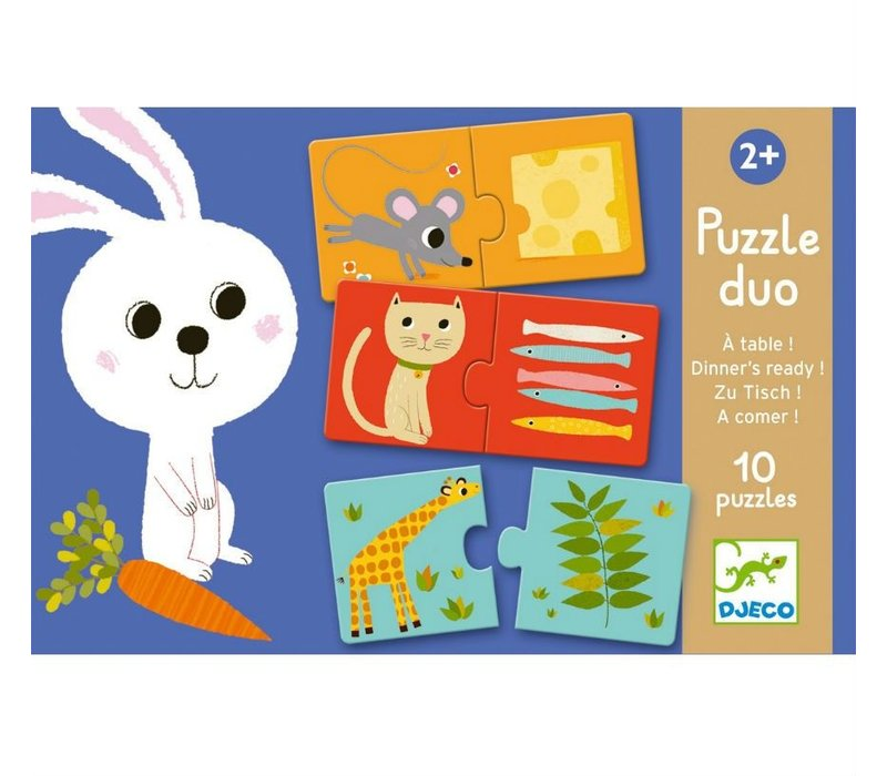Educational games - Puzzle duo/trio Dinner's ready