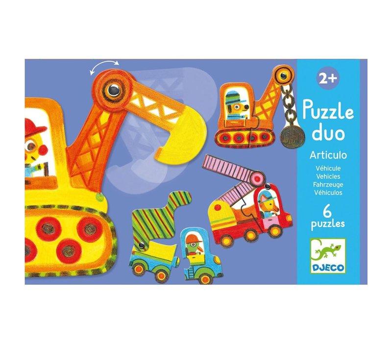 Educational games - Puzzle duo/trio Articulo Vehicles