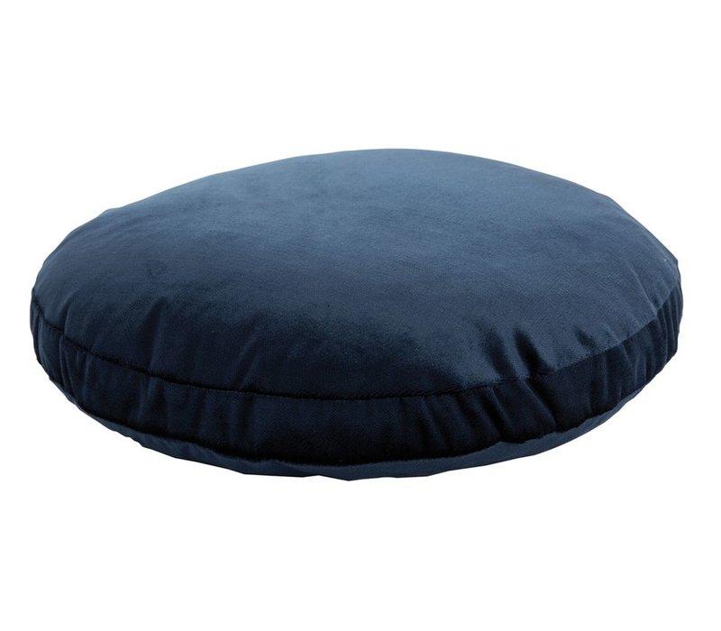 Cushion Velvet & Silk Oxford Blue