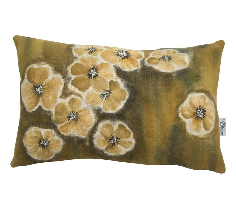 Cushion Watercolor Olive 40x25cm