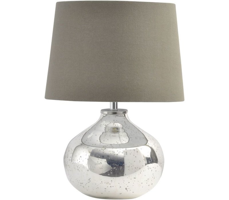 Antique Silver Ovate Glass Lamp