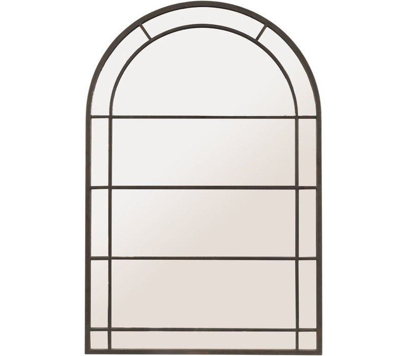 Black Arch Frame Mirror Large