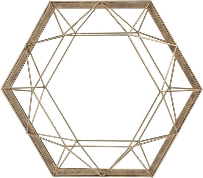 Platonic Antique Gold Mirror
