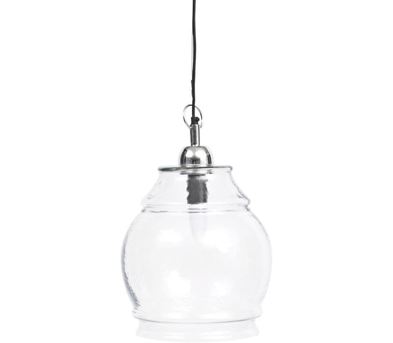Clear Glass And Nickel Glass Pendant E27 60W