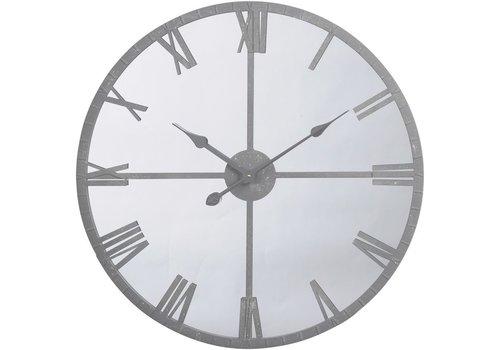 Homestore Grey Framed Mirrored Wall Clock