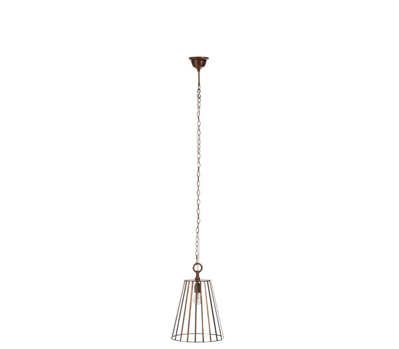 LAMP ROUND RIBBED COPPER Small