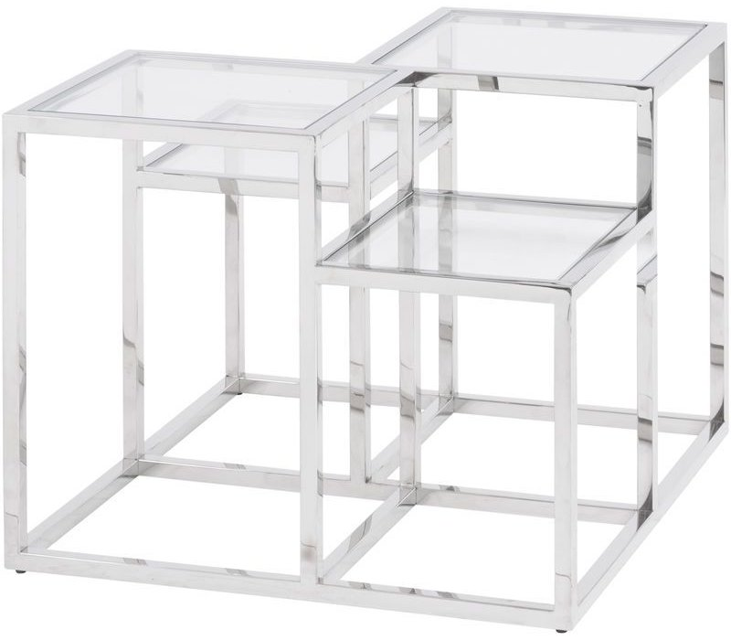Gatsby Square Stainless Steel Side Table