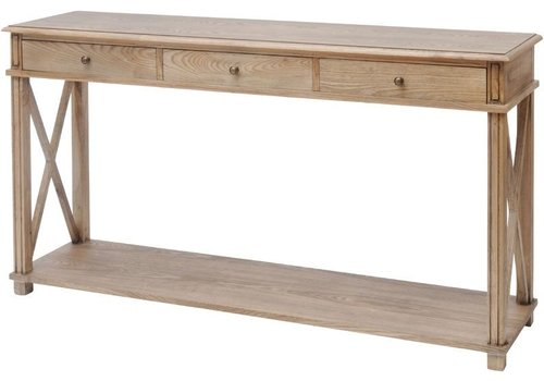 Homestore Darwin Natural Ash 3 Drawer Console