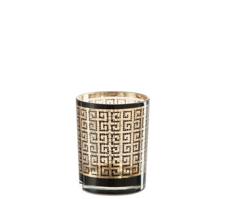 HURRICANE MODERN GLASS BLACK & GOLD (M)