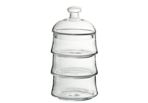 Homestore STORAGE JAR LID 3 LEVELS GLASS