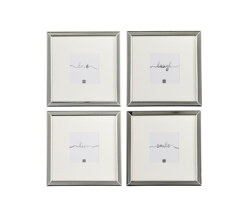 PHOTO FRAME 12x12 GLASS SILVER