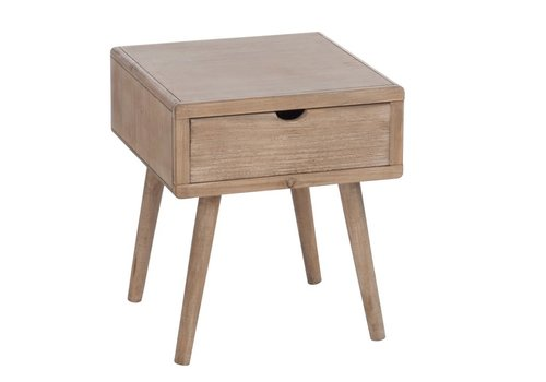 Homestore NIGHT TABLE 1 DRAW SQ WOOD NATURAL
