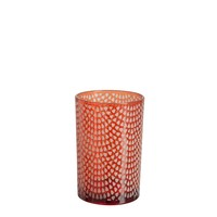 HURRICANE PATTERN GLASS RED L
