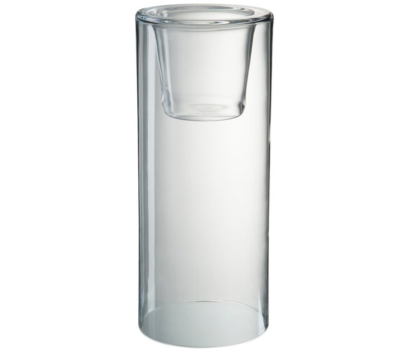 HURRICANE IN CLEAR GLASS (L)