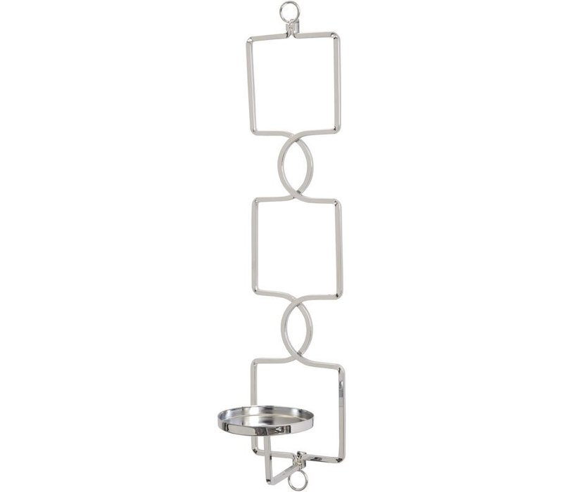 Chrome Square Link Wall Sconce