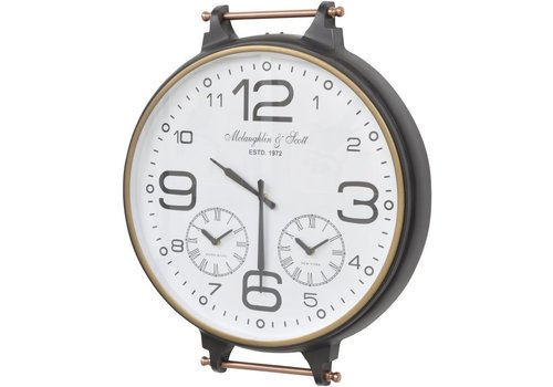 Homestore Bronze and Copper World Timer Fob Wall Clock