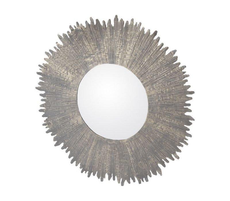 Bali Metal Round Mirror Large
