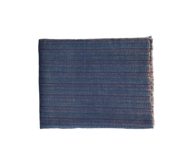 PAOLO - mohair throw in blue (130x170cm)