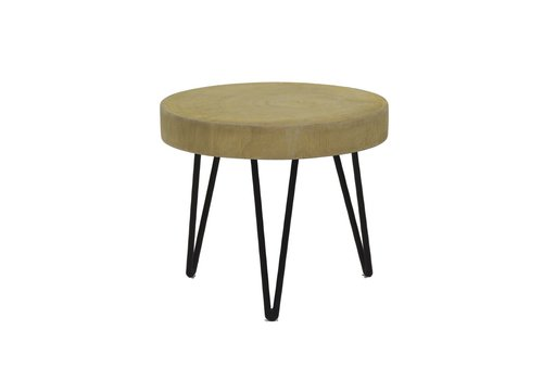 Homestore SO PURE  stool, palownia wood & metal