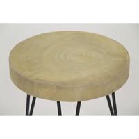 SO PURE  stool, palownia wood & metal