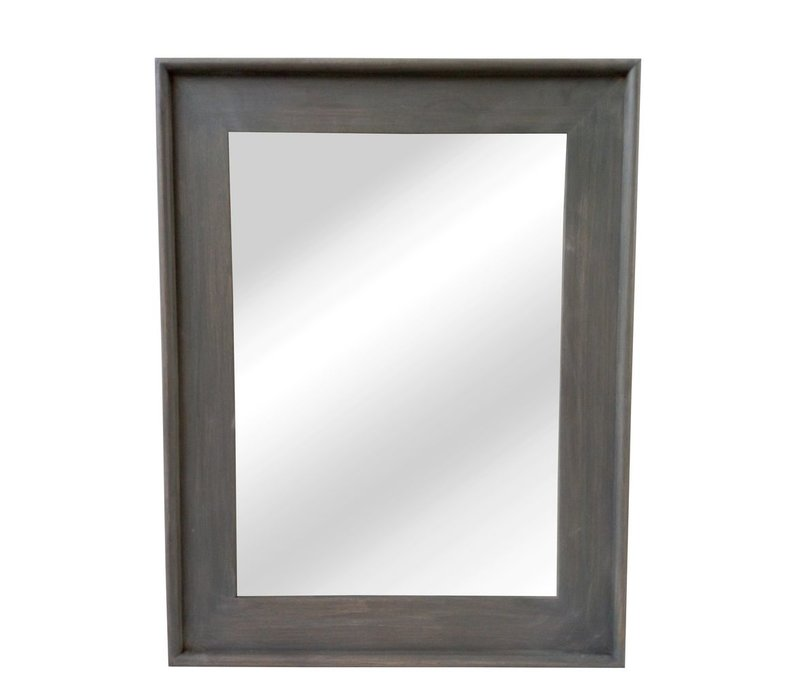 CLASSIC SOFT mirror in grey wood - L 68x88cm