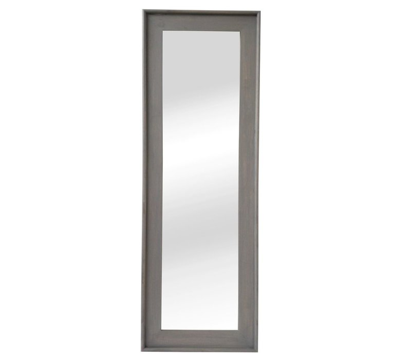 CLASSIC SOFT mirror in grey wood - XL 58x168cm