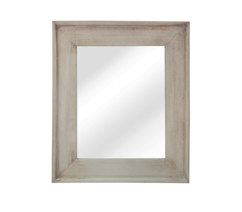 CLASSIC SOFT mirror in natural wood -M 58x68cm
