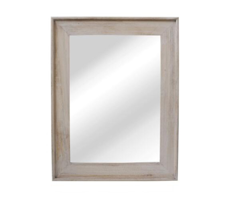 CLASSIC SOFT mirror in natural wood - L 68x88cm