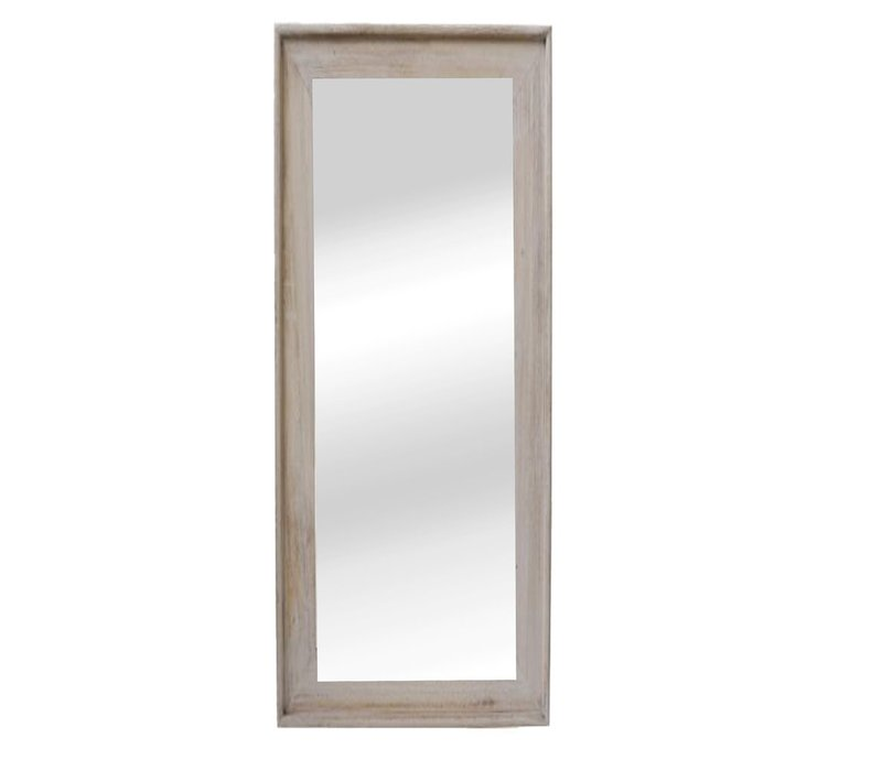CLASSIC SOFT mirror in natural wood - XL 58x168cm